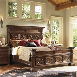 Lexington Fieldale Lodge Pine Lakes Bed in Distressed Brown Mahogany - King