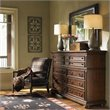 ADD TO YOUR SET: Lexington Fieldale Lodge Prescott Dresser in Distressed Brown Mahogany