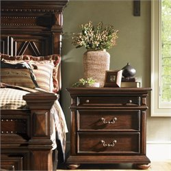 Lexington Fieldale Lodge Tahoe Bedside Chest/Nightstand in Brown Mahogany