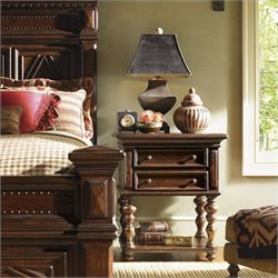 Lexington Fieldale Lodge Castle Pines Nightstand in Distressed Brown Mahogany