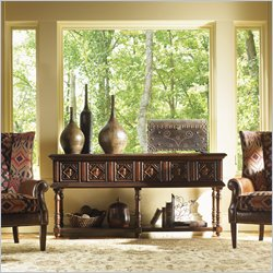 Lexington Fieldale Lodge Eagle Sideboard in Distressed Brown Mahogany