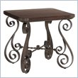Fieldale Lodge Littleton End Table in Distressed Brown Mahogany