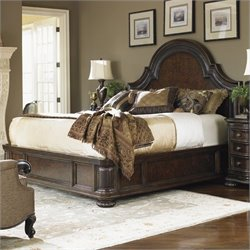 Lexington Florentino Cavallino Platform Bed in Dark Walnut