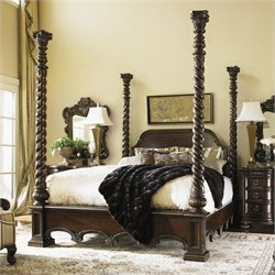 Lexington Florentino Vittorio Poster Bed in Dark Walnut - Queen