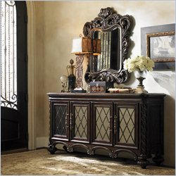Lexington Florentino Console and Mirror in Dark Walnut
