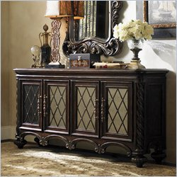 Lexington Florentino Barletta Hall Console in Dark Walnut