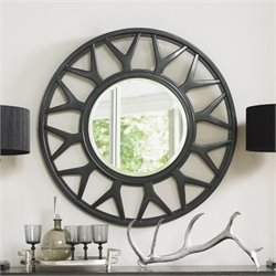 Lexington Carrera Esprit Round Mirror in Carbon Gray