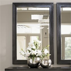 Lexington Carrera Volante Landscape Mirror in Carbon Gray