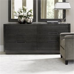 Lexington Carrera Cayman 6 Drawer Wood Double Dresser in Carbon Gray