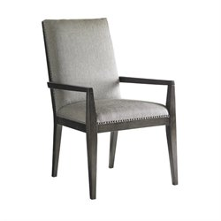 Lexington Carrera Vantage Fabric Upholstered Arm Chair in Gray Mist