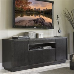 Lexington Carrera Berlinetta 4 Door Wood TV Stand in Carbon Gray