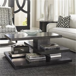 Lexington Carrera Evora Square Wood Coffee Table in Carbon Gray