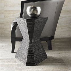 Lexington Carrera Topaz Accent Table in Carbon Gray