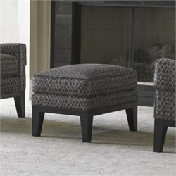Lexington Carrera Giovanni Fabric Ottoman in Dark Gray