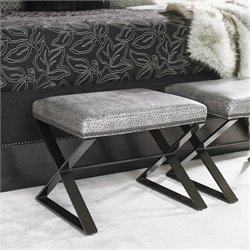Lexington Carrera Lola Leather Bench in Smoke
