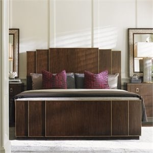 Lexington Tower Place Fairmont Wood Panel Bed in Walnut