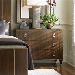 Lexington Tower Place Evanston 3 Drawer Wood Dresser in Walnut