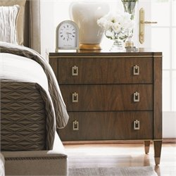 Lexington Tower Place Burnham 3 Drawer Wood Nightstand in Walnut