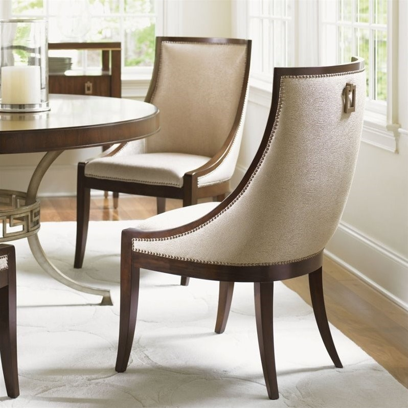 Lexington Tower Place Talbott Upholstered Host Chair in Rose Gold
