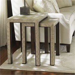 Lexington Tower Place Adler 2 Piece Nesting Tables in Beige Gray