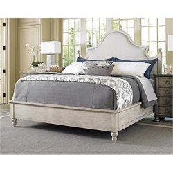 Lexington Oyster Bay Arbor Hills Upholstered King Bed in Pearl