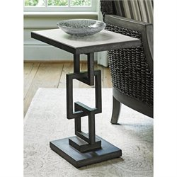 Lexington Oyster Bay Deerwood Rectangular Accent Table in Oyster