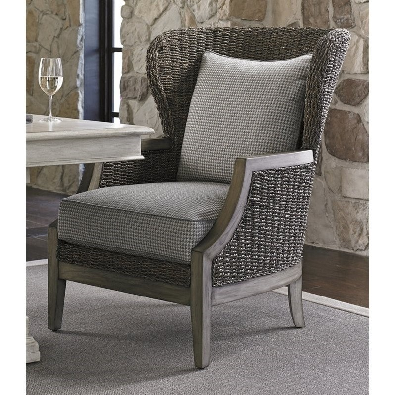 Lexington Oyster Bay Seaford Wicker Accent Chair In Gray