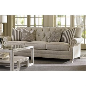 Lexington Oyster Bay Greenport Tufted Fabric Sofa in Milllstone