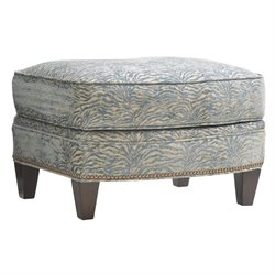 Lexington Oyster Bay Bayville Fabric Ottoman in Milllstone