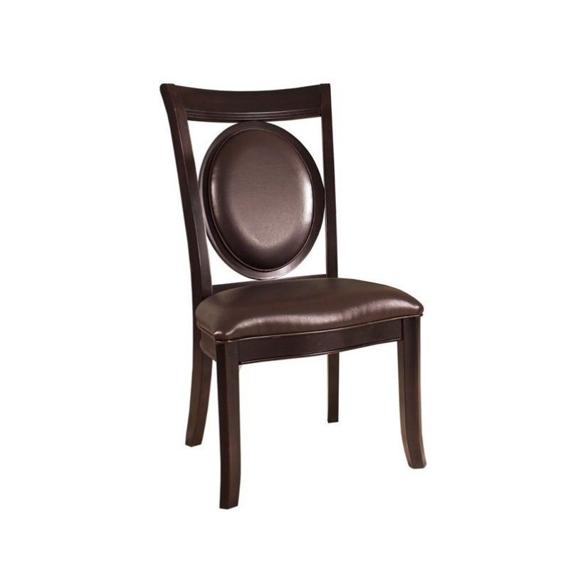 Signature Bicast Leather Side Chair in Dark Merlot