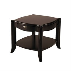 Somerton Signature End Table in Dark Merlot