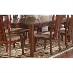 Somerton Dwelling Runway Rectangular Contemporary Dining Table in Warm Brown