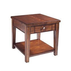 Somerton Runway End Table in Warm Chestnut