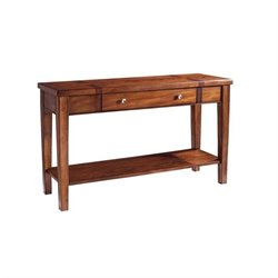 Somerton Dwelling Runway Contemporary Sofa Table in Warm Brown