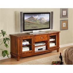 Somerton Runway TV Stand in Warm Chestnut