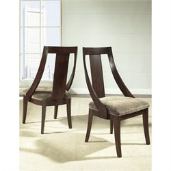 Somerton Dwelling Cirque Fabric Dining Side Chair in Merlot Finish