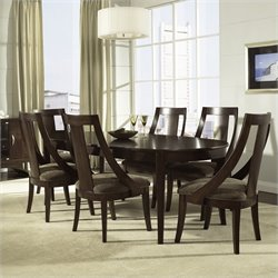 Somerton Dwelling Cirque 7 Piece Dining Set in Merlot