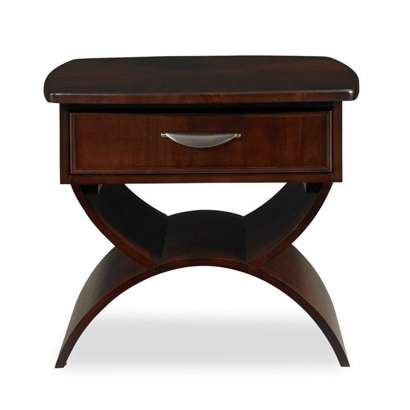 Somerton Cirque End Table in Soft Merlot