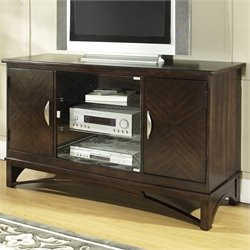 Somerton Dwelling Cirque TV Entertainment Console in Merlot