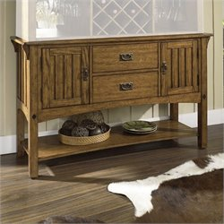 Somerton Dwelling Craftsman Mission Side Server Buffet in Brown Finish