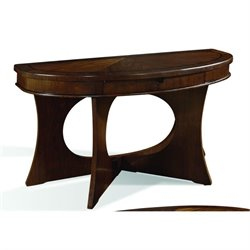 Somerton Manhattan Sofa Table in Brown Walnut