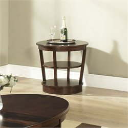 Somerton Dwelling Montecito End Table in Warm Brown