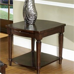 Somerton Morgan Rectangular End Table in Deep Brown