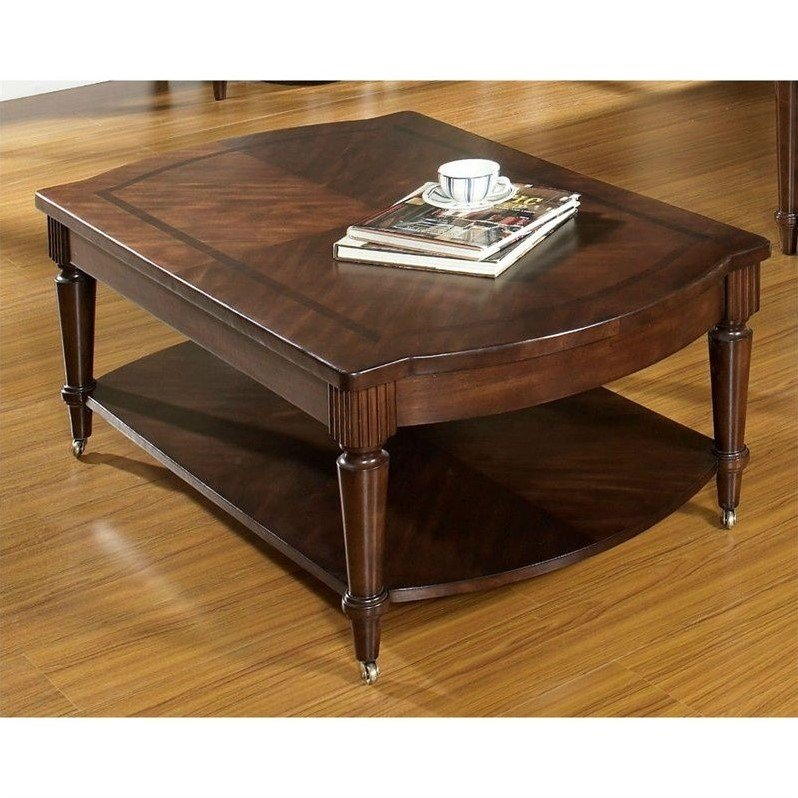Dwelling Morgan Cocktail Table in Deep Brown
