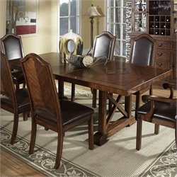 Somerton Dwelling Barrington Trestle Dining Table in Pecan