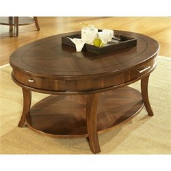 Somerton Dwelling Gatsby Cocktail Table in Medium Brown