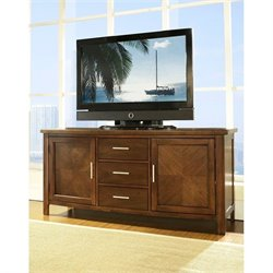 Somerton Gatsby TV Stand in Medium Brown Walnut