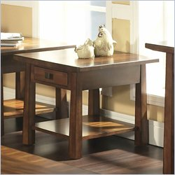 Somerton Dwelling Dakota End Table in Rich Brown
