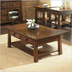 Somerton Dwelling Dakota Cocktail Table in Rich Brown