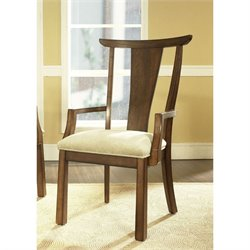 Somerton Dakota Arm Chair in Warm Cherry Brown